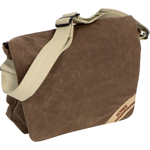 Domke Medium Messenger Bag (Brown RuggedWear Waxed Canvas)