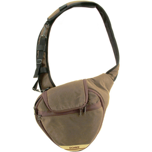 Domke Quick Shot Sling Medium (Brown RuggedWear Waxed Canvas)