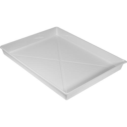 "Doran Plastic Ribbed Developing Tray - 11x14"""