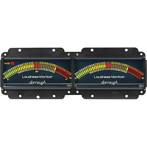 Dorrough Dual Analog Loudness Meters +20dB