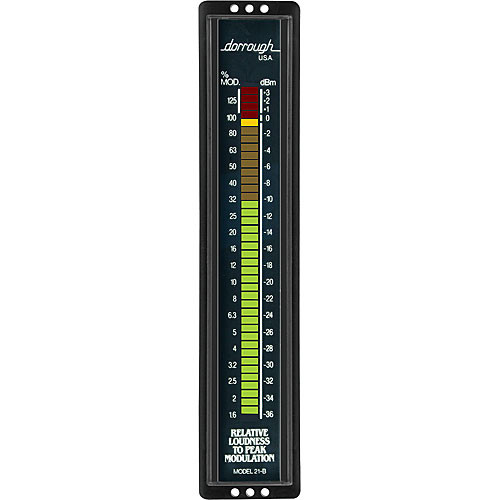Dorrough 21B Vertical Analog Loudness Meter with Percent Modulation