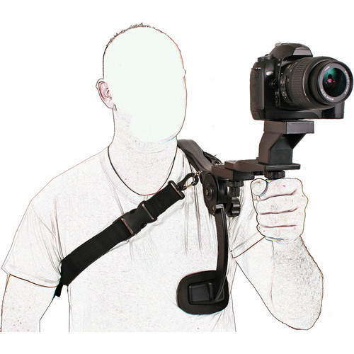 Dot Line Video Stabilizer with Grip and Quick Release