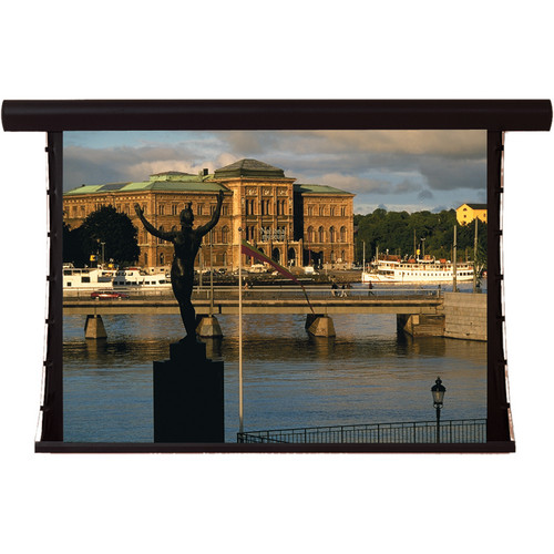 """Draper 107320QLP Silhouette/Series V 36 x 64"""" Motorized Screen with Low Voltage Controller, Plug & Play, and Quiet Motor (120V)"""