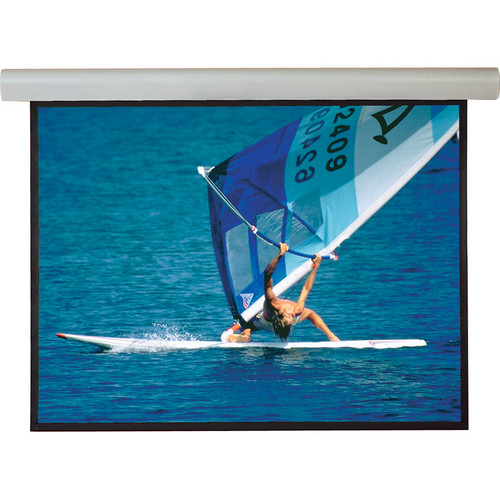 """Draper 108327QLP Silhouette/Series E 52 x 92"""" Motorized Screen with Low Voltage Controller, Plug & Play, and Quiet Motor (120V)"""