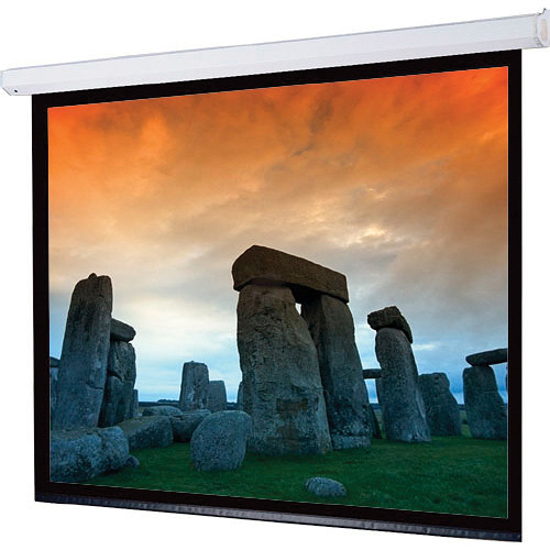 """Draper 116036QLP Targa 108 x 108"""" Motorized Screen with Plug & Play Motor with Low Voltage Controller and Quiet Motor (120V)"""