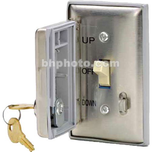 Draper Key Operated Switch with Locking Coverplate