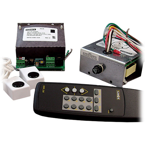 Draper Wireless Remote Control - Two Multi-Channel Infrared Controls - Two Receivers, One Transmitter