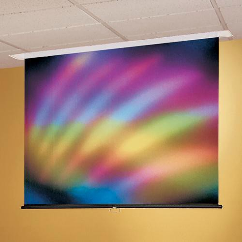 """Draper 203141 Access/Series M Manual Front Projection Screen with AutoReturn (120x120"""")"""