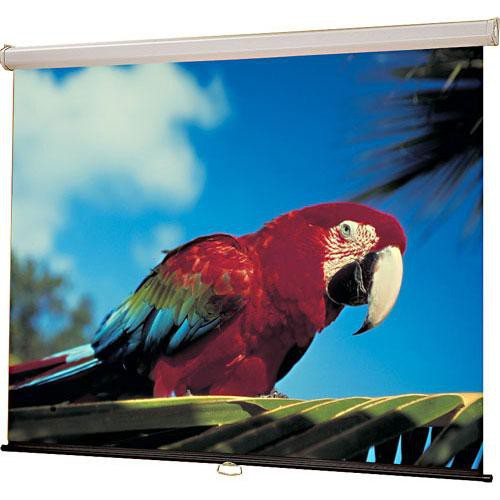 "Draper Luma Manual Projection Screen - Wall or Ceiling Mounted - Non-Tensioned - 60 x 60"" - 85"" Diagonal - Square Format - Matte White"