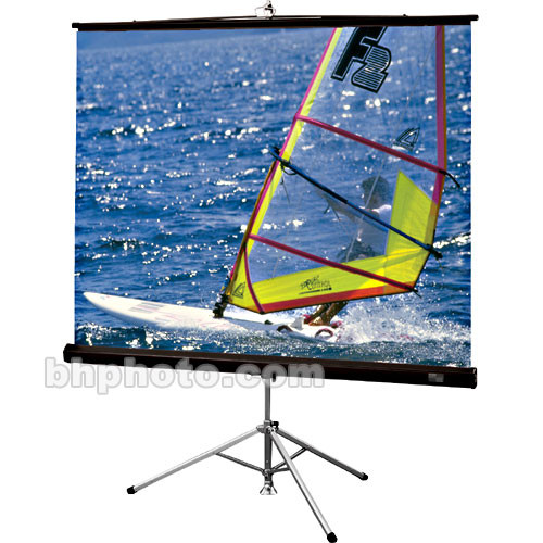 "Draper Diplomat Portable Tripod Screen - 42.5 x 56.5"" - HC Gray (HC)"