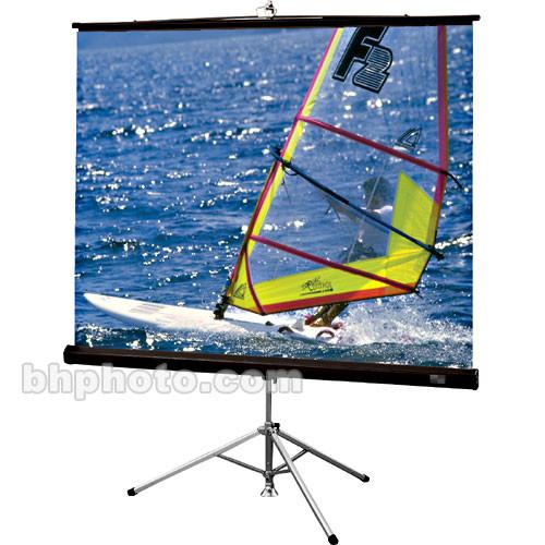 "Draper Diplomat/R Portable Tripod Projection Screen - 50 x 66.5"" - 84"" Diagonal - Video Format (4:3 Aspect) - Matte White with Black Plastisol Case"