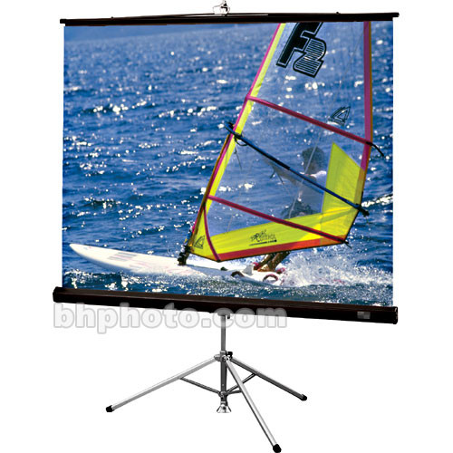 "Draper Diplomat/R Portable Tripod Projection Screen - 60 x 80"" - 100"" Diagonal - Video Format (4:3 Aspect) - Matte White with Black Plastisol Case"