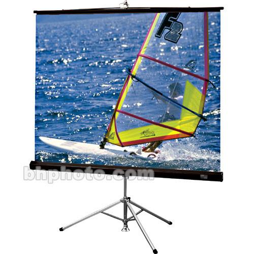 "Draper Diplomat/R Portable Tripod Projection Screen - 60 x 60"" - 85"" Diagonal - Square Format - Matte White with Black Carpet Case"
