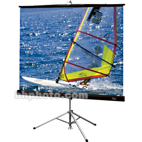 "Draper Diplomat/R Portable Tripod Projection Screen - 60 x 80"" - 100"" Diagonal - Video Format (4:3 Aspect) - Matte White with Black Carpet Case"