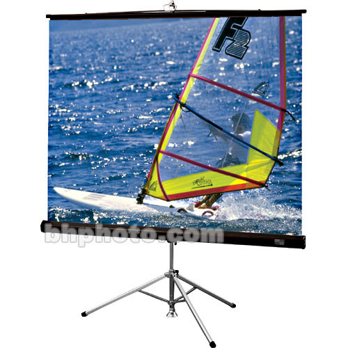 "Draper Diplomat/R Portable Tripod Projection Screen - 69 x 92"" - 120"" Diagonal - Video Format (4:3 Aspect) - Matte White with Black Carpet Case"