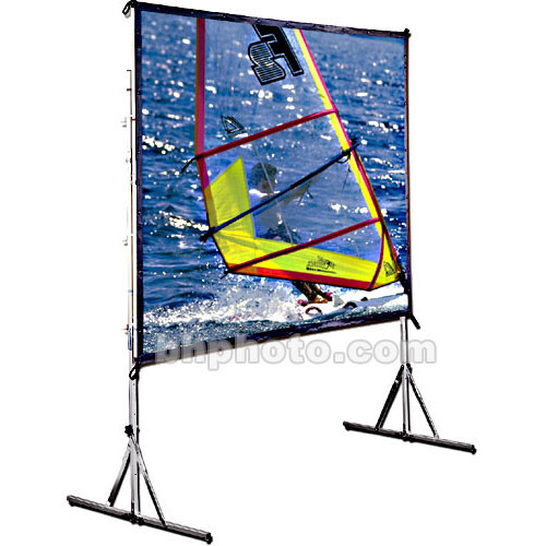 Draper 218079 Cinefold Folding Portable Projection Screen with Heavy Duty Anti-Sway Legs (7 x 7')