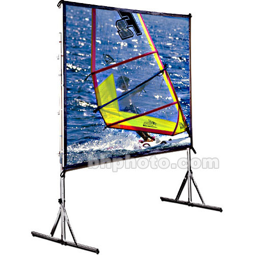 Draper 218081 Cinefold Folding Portable Projection Screen with Heavy Duty Anti-Sway Legs (9 x 9')