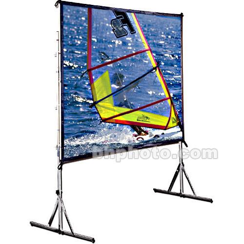 "Draper Cinefold Folding Portable Front Projection Screen with Heavy Duty Legs - 122 x 164"" - 200"" Diagonal - Video Format (4:3 Aspect) - Matte White"