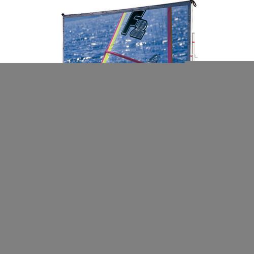 Draper 218101UW Cinefold Folding Portable Projection Screen with Heavy Duty Anti-Sway Legs (10 x 10')