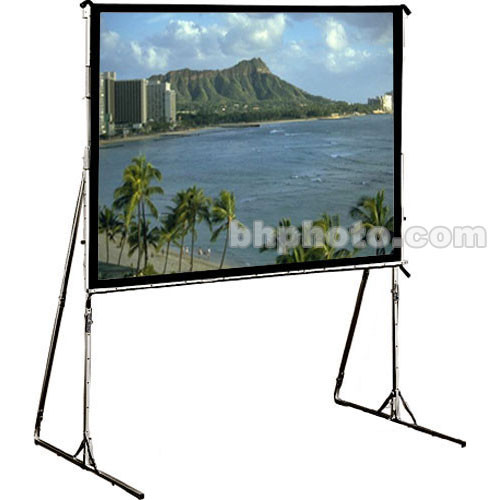 "Draper 218114 Cinefold Folding Portable Projection Screen with Heavy Duty Anti-Sway Legs (92 x 140"")"