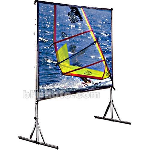 "Draper Cinefold Folding Portable Front Projection Screen with Standard Legs - 65 x 116 - 133"" Diagonal - HDTV Format (16:9 Aspect) - Matte White"