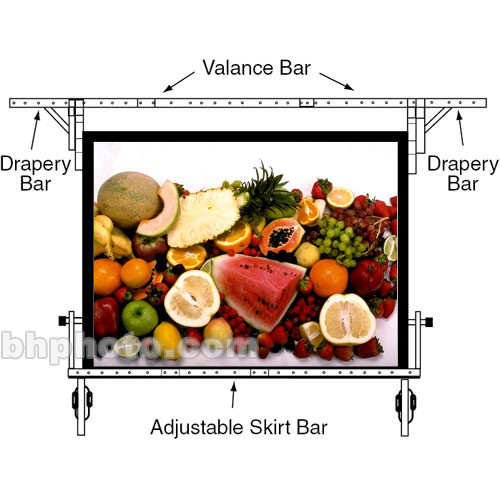 "Draper Drapery Bars for Cinefold  104x104"" Portable Projection Screen - One Pair"