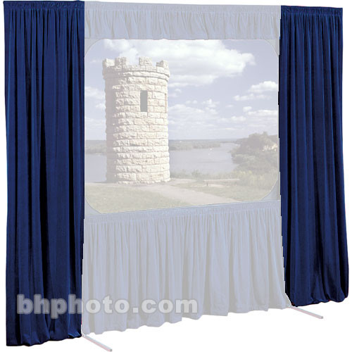 "Draper Set of Drapes for Cinefold 58x104"" Projection Screen - Two Side Drapes"