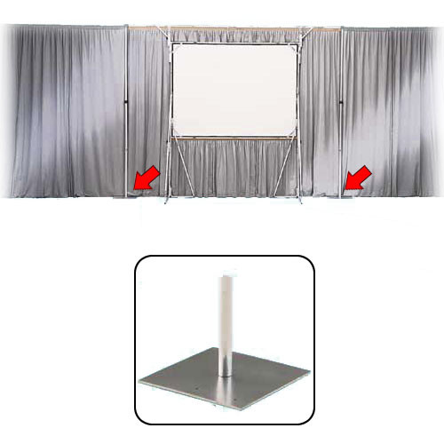 "Draper Pipe and Drape Flat Steel Base (3/16 x 18 x 18"")"