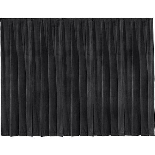 """Draper 16' x 50"""" Drape Panel (Single Panel, Black)"""