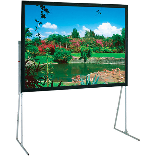 "Draper 241314 Ultimate Folding Projection Screen with Extra Heavy Duty Legs (77.5 x 124"")"