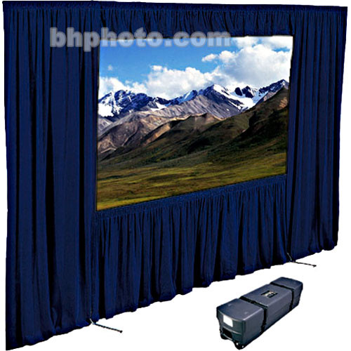 "Draper Dress Kit for Ultimate Folding Screen with Case - 108 x 108"" - Navy"