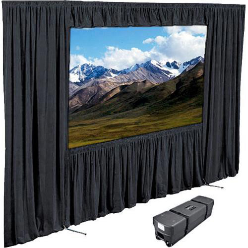 "Draper Dress Kit for Ultimate Folding Screen with Case - 120 x 120"" - Black"