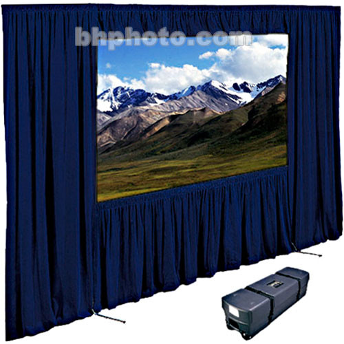 "Draper Dress Kit for Ultimate Folding Screen with Case - 120 x 120"" - Navy"
