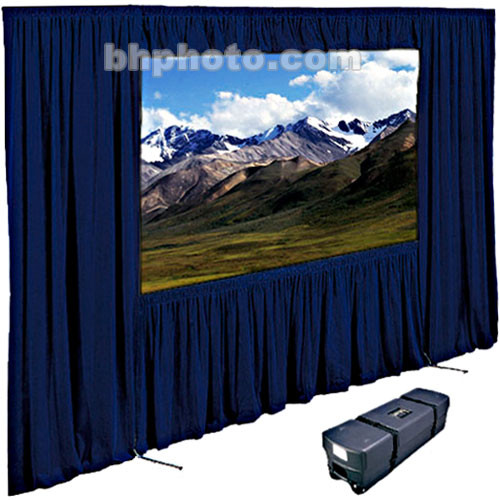 "Draper Dress Kit for Ultimate Folding Screen with Case - 144"" x 192""- Navy"
