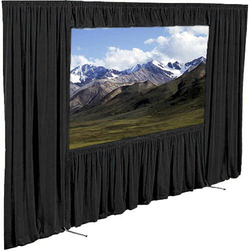 "Draper Dress Kit for Ultimate Folding Screen without Case - 85 x 115"" - Black"