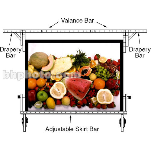 "Draper Valence Bar for 86x116"" Ultimate Folding Portable Projection Screen"