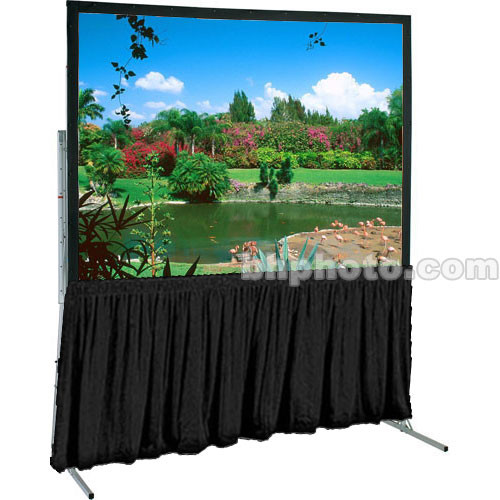 "Draper Dress Skirt for Ultimate Folding Projection Screen-91x91""-Black"