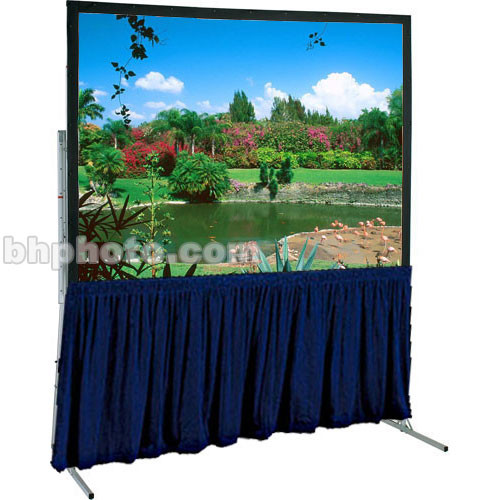 """Draper Skirt for Ultimate 64x115"""" Folding Projection Screen - Navy"""