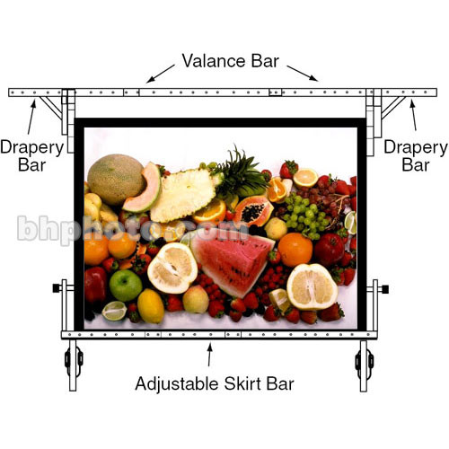 """Draper Valence Bar for 104x104"""" Ultimate Folding Portable Projection Screen"""