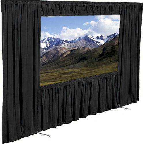 "Draper Dress Kit for the 121x163"" Ultimate Folding Screen (Black)"