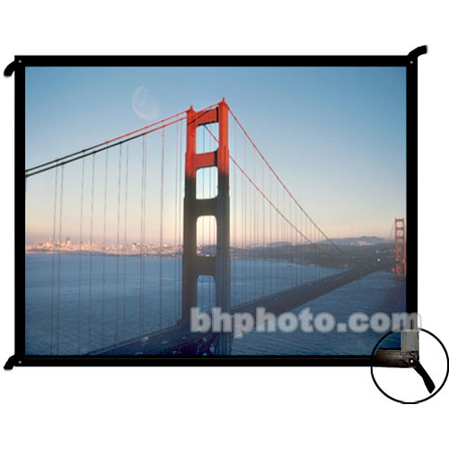 """Draper 250030 Cineperm Fixed Frame Projection Screen (75.75 x 140"""")"""