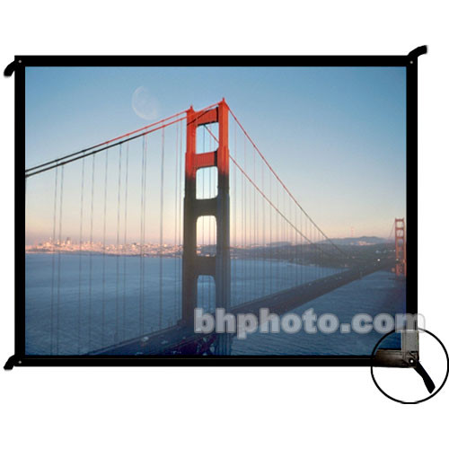 """Draper 250055 Cineperm Fixed Frame Projection Screen (75.75 x 140"""")"""