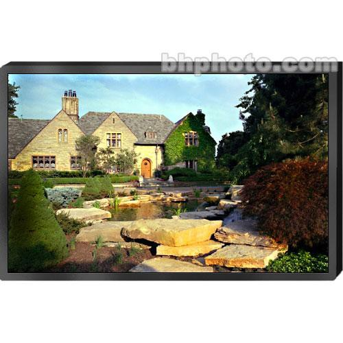 "Draper 252188 Clarion Fixed Frame Projection Screen with Black Vel-Tex Frame (58 x 136"")"