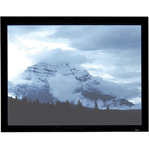 "Draper 253751 Onyx Fixed Frame Front Projection Screen with Black Veltex Frame (52 x 122"")"