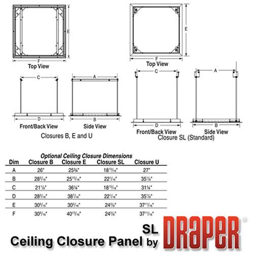 Draper 300291 Ceiling Closure Panel for Scissor Lift SL4-12 (SL-Sized, White)