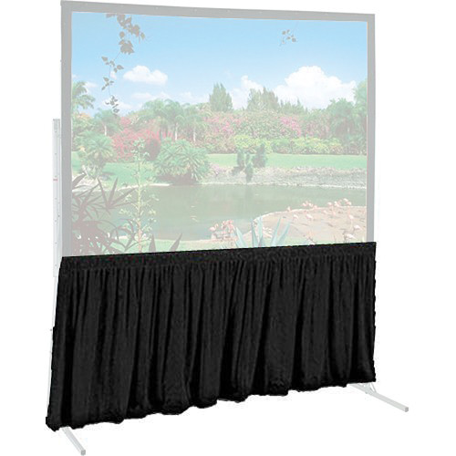 "Draper 382257 Dress Skirt for The Ultimate Folding Projection Screen (European Format, 176 x 176"", Black)"