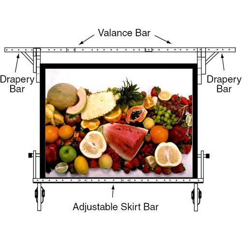 "Draper 382378 UFS Euro Format Adjustable Skirt Bar (152""x 200"")"