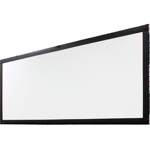 """Draper 383516 Stage Screen Portable Projection Screen (Frame and Screen ONLY, Black Frame, 216 x 720"""")"""