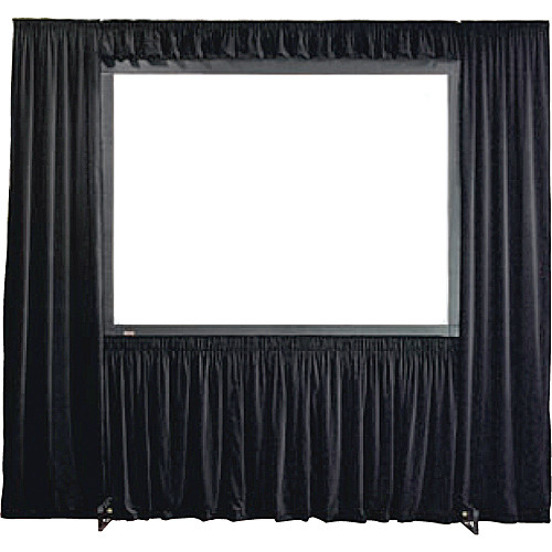 """Draper 384013 Dress Kit for StageScreen Projection Screen (Black Velour, 108 x 192"""")"""