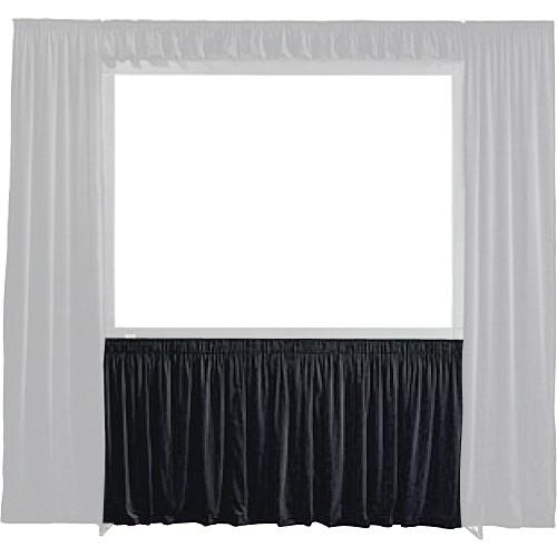 "Draper 384073 StageScreen Dress Kit Skirt (72 x 96"", Black)"